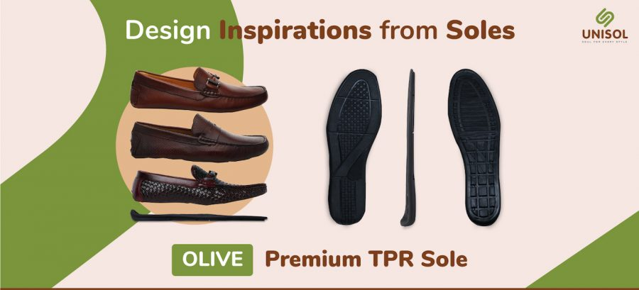 Olive Rubber Sole for Moccasino